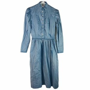 Vintage Lanz Floral Daisy Prairie Style Dress